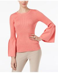 Cable & Gauge | Ribbed Lantern-sleeve Sweater | Lyst