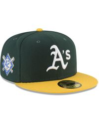 quality design 411b6 84fe0 KTZ Oakland Athletics Authentic Collection 50th Anniversary 59fifty Fitted  Cap in Green for Men - Lyst