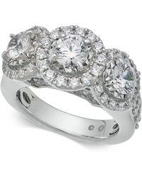 Macy's - Diamond Triple Halo Ring (3 Ct. T.w.) In 14k White Gold - Lyst