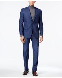 Marc New York - Men's Classic-fit Blue Neat Suit - Lyst