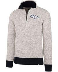47 Brand   Men's Kodiak Quarter-zip Pullover   Lyst