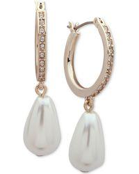 Ivanka Trump - Gold-tone Imitation Pearl & Crystal Drop Earrings - Lyst
