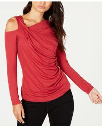 Vince Camuto - Ruched Cold-shoulder Top, Created For Macy's - Lyst