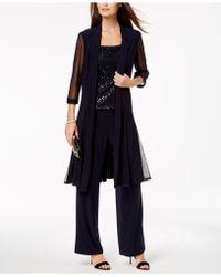 R & M Richards - Sequin-embellished 3-pc. Pantsuit - Lyst