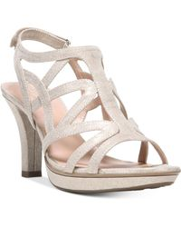 cbfd4f89c3 Vince Camuto Velenza Block Heel Ankle Strap Dress Sandals in Natural ...