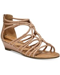 Esprit - Cecile Strappy Wedge Sandals - Lyst