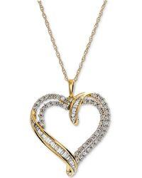 Macy's - Diamond Heart Pendant Necklace (1 Ct. T.w.) - Lyst