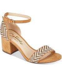 Callisto - Nessa Two-piece Block Heel Dress Sandals, Created For Macy's - Lyst