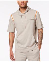 INC International Concepts - Hooded Short Sleeve Sweatshirt, Created For Macy's - Lyst