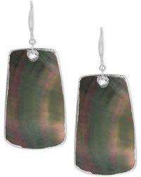 Robert Lee Morris - Silver-tone Mother Of Pearl-look Drop Earrings - Lyst