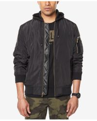 Sean John | Men's Hooded Bomber Jacket | Lyst