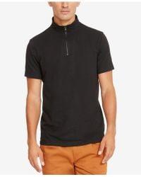 Kenneth Cole Reaction   Men's Mock-collar Biker T-shirt   Lyst