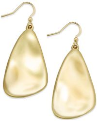 INC International Concepts - Silver-tone Shell Drop Earrings - Lyst