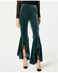 INC International Concepts - I.n.c. Velvet Ruffled Slit-leg Pants, Created For Macy's - Lyst