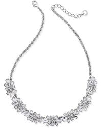 Charter Club - Clear & Colored Crystal Necklace - Lyst