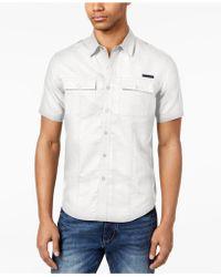 Sean John - Dual Pocket Linen Shirt, Created For Macy's - Lyst