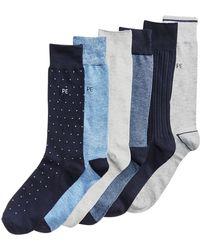 4037187b67 Lyst - Psycho Bunny Stripe   Pin-dot Printed Socks in Red for Men