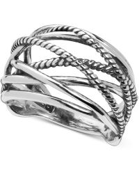 Carolyn Pollack - Crisscross Statement Ring In Sterling Silver - Lyst