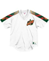 1e3a0ea97263 Mitchell   Ness - Seattle Supersonics Winning Team Mesh V-neck Jersey - Lyst
