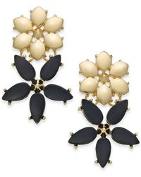 INC International Concepts - I.n.c. Gold-tone Stone Flower Drop Earrings, Created For Macy's - Lyst