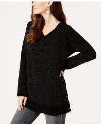 Style & Co. - Petite Chenille Grommet Lace-up Jumper, Created For Macy's - Lyst