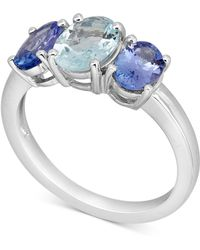Macy's - Aquamarine (1 Ct. T.w.) & Tanzanite (1-1/2 Ct. T.w.) Ring In 10k White Gold - Lyst