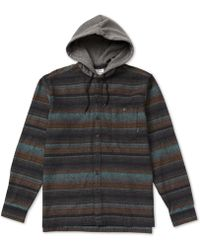 Billabong - Baja Regular-fit Stripe Hooded Flannel Shirt - Lyst