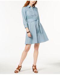 Tommy Hilfiger | Cotton Striped Shirtdress | Lyst