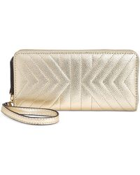 INC International Concepts - I.n.c. Glam Metallic Quilted Zip-around Wallet, Created For Macy's - Lyst
