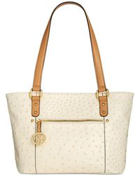 Giani Bernini - Ostrich-embossed Tote, Created For Macy's - Lyst