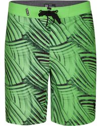 "Hurley - Men's Phantom Crest Striped 9"" Fboardshorts - Lyst"