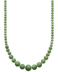 Macy's - Jade Graduated Strand Necklace In 14k Gold (6-14mm) - Lyst