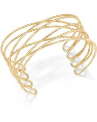INC International Concepts | Gold-tone Crisscross Cuff Bracelet | Lyst