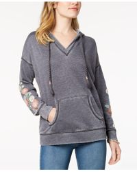 Style & Co. - Embroidered Hoodie, Created For Macy's - Lyst