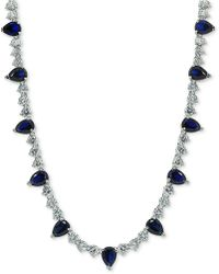 "Giani Bernini - Cubic Zirconia 18"" Collar Necklace In Sterling Silver, Created For Macy's - Lyst"