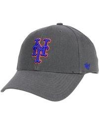 47 Brand - New York Mets Charcoal Mvp Cap - Lyst