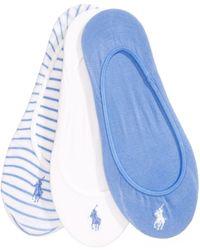 Polo Ralph Lauren | 3-pk. Solid & Striped Liner Socks | Lyst