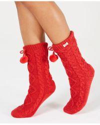 UGG - Ugg Pom Pom Fleece Slipper Socks - Lyst