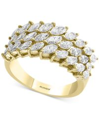 Effy Collection | Diamond Marquise Cluster Ring (1-3/4 Ct. T.w.) In 14k Gold | Lyst