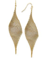 INC International Concepts - Mesh Drop Earrings, Created For Macy's - Lyst
