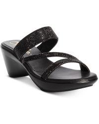 Callisto - Raya Embellished Wedge Sandals - Lyst
