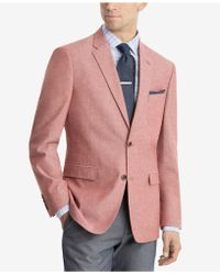 Tommy Hilfiger - Modern-fit Red/white Chambray Sport Coat - Lyst