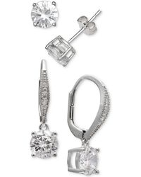 35946a57e Giani Bernini Cubic Zirconia Halo Drop Earrings In 18k Rose Gold-plated  Sterling Silver in Metallic - Lyst