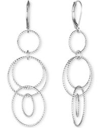 Anne Klein - Open Circle Triple Drop Earrings - Lyst