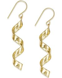 Macy's - Swirl Drop Earrings In 10k Gold - Lyst