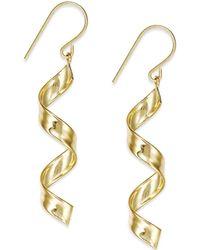 Macy's - Swirl Drop Earrings In 10k Gold - Lyst