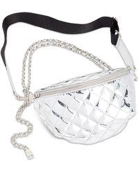 Steve Madden - Convertible Chrome Patent Belt Bag - Lyst