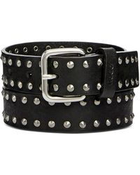 BOSS - Studded Leather Belt - Lyst
