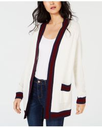 Maison Jules - Varsity-stripe Cardigan Sweater, Created For Macy's - Lyst