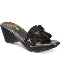 Callisto | Willow Platform Wedge Sandals | Lyst